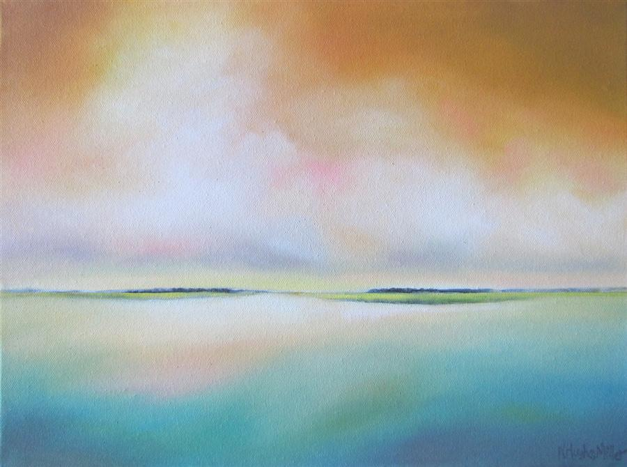 Original art for sale at UGallery.com | Lowlands II by NANCY HUGHES MILLER | $475 | Oil painting | 12' h x 16' w | ..\art\oil-painting-Lowlands-II
