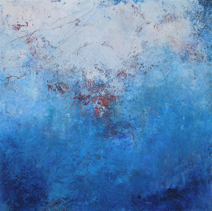 Original art for sale at UGallery.com | Blue Mysteries by Hilma Koelman | $1,175 | oil painting | 20' h x 20' w | ..\art\oil-painting-Blue-Mysteries