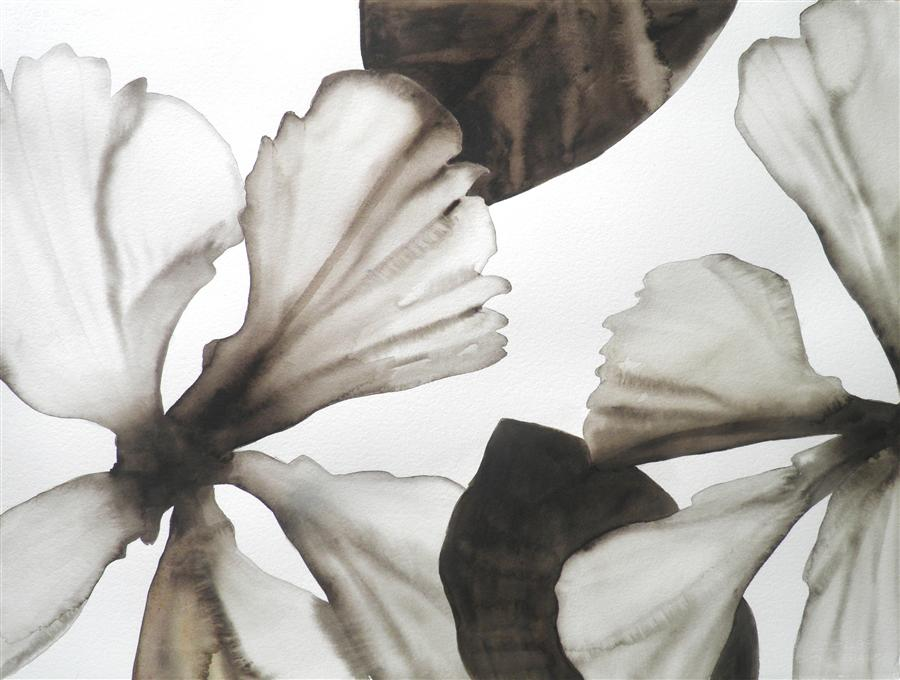 Original art for sale at UGallery.com | Hibiscus 1 by CATHE HENDRICK | $875 |  | 22' h x 30' w | ..\art\watercolor-painting-Hibiscus-1