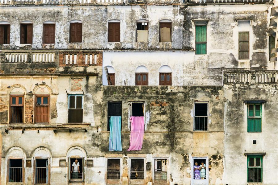 Original art for sale at UGallery.com | Varanasi Windows by Kimberly Poppe | $375 | photography | 36' h x 24' w | ..\art\photography-Varanasi-Windows