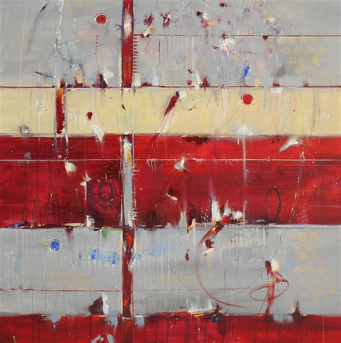Original art for sale at UGallery.com | Trust, Spirit, Destiny by Cynthia Ligeros | $3,475 | oil painting | 40' h x 40' w | ..\art\oil-painting-Trust-Spirit-Destiny