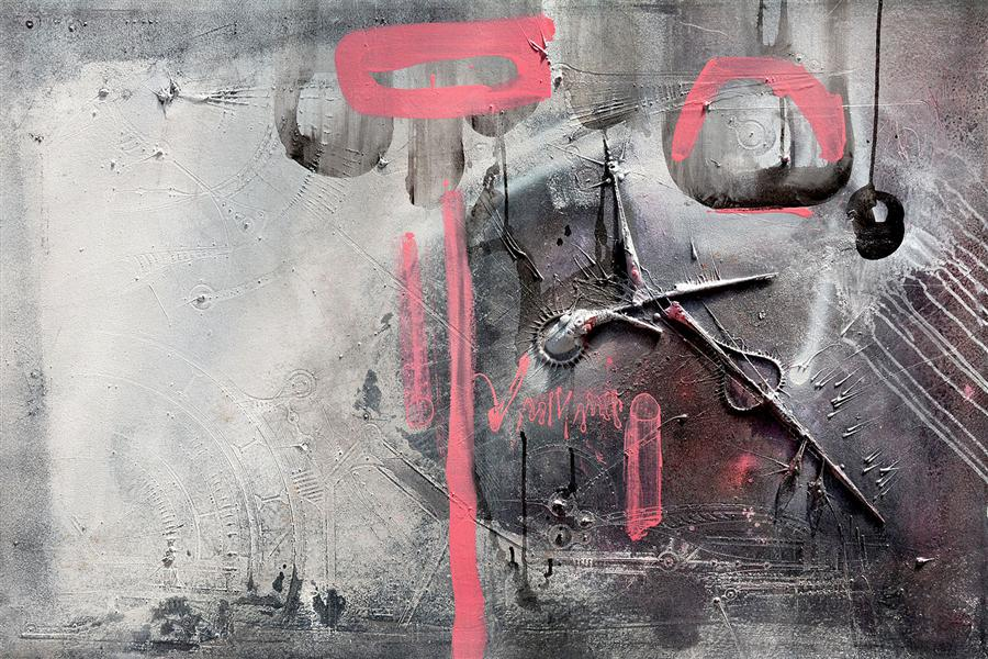 Original art for sale at UGallery.com | Quality of Cipher by ADRIANO RIBEIRO | $1,325 |  | 31' h x 47' w | ..\art\mixed-media-artwork-Quality-of-Cipher
