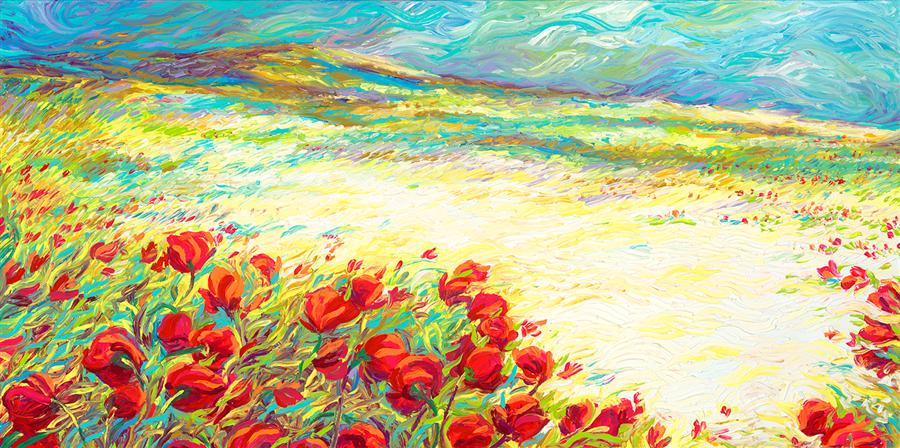 Original art for sale at UGallery.com | Spring Snow by IRIS SCOTT | $5,725 | Oil painting | 24' h x 48' w | ..\art\oil-painting-Spring-Snow-40402