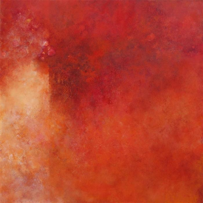 Original art for sale at UGallery.com | Point of Departure by KAREN HANSEN | $3,200 |  | 40' h x 40' w | ..\art\acrylic-painting-Point-of-Departure