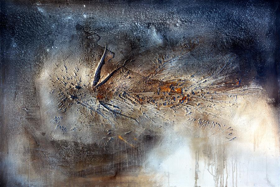 Original art for sale at UGallery.com | Pathos by ADRIANO RIBEIRO | $1,750 |  | 31' h x 47' w | ..\art\mixed-media-artwork-Pathos
