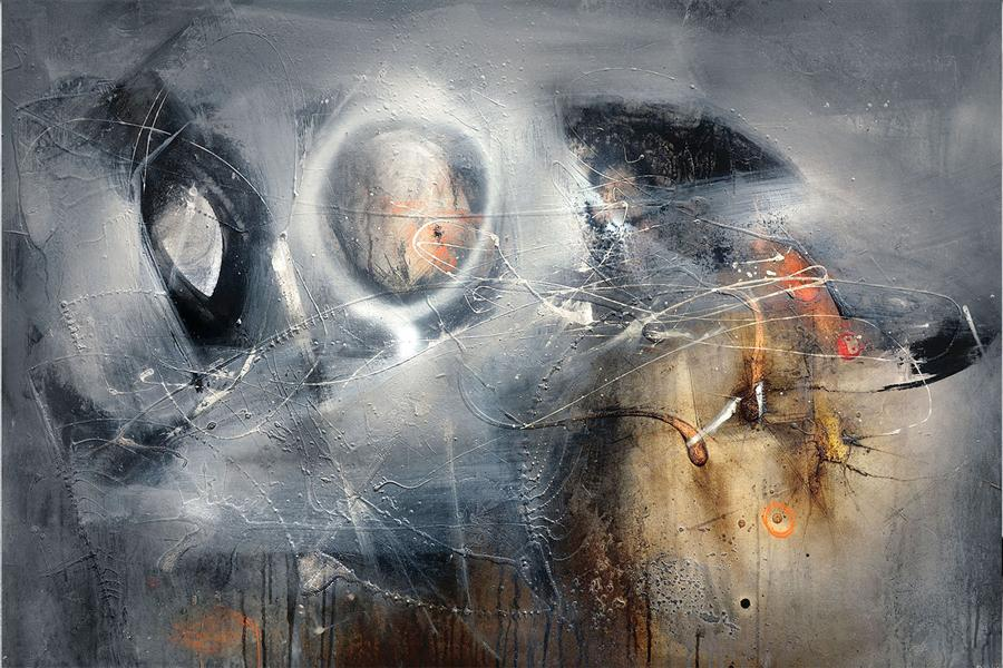 Original art for sale at UGallery.com | Above the Mist by ADRIANO RIBEIRO | $1,750 |  | 31' h x 47' w | ..\art\mixed-media-artwork-Above-the-Mist