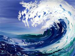 Seascape art,Representational art,acrylic painting,Challenge