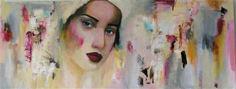 Expressionism art,People art,Representational art,Vintage art,acrylic painting,Wondering