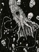 Expressionism art,Surrealism art,Street Art art,Representational art,ink artwork,Nightmare Squid