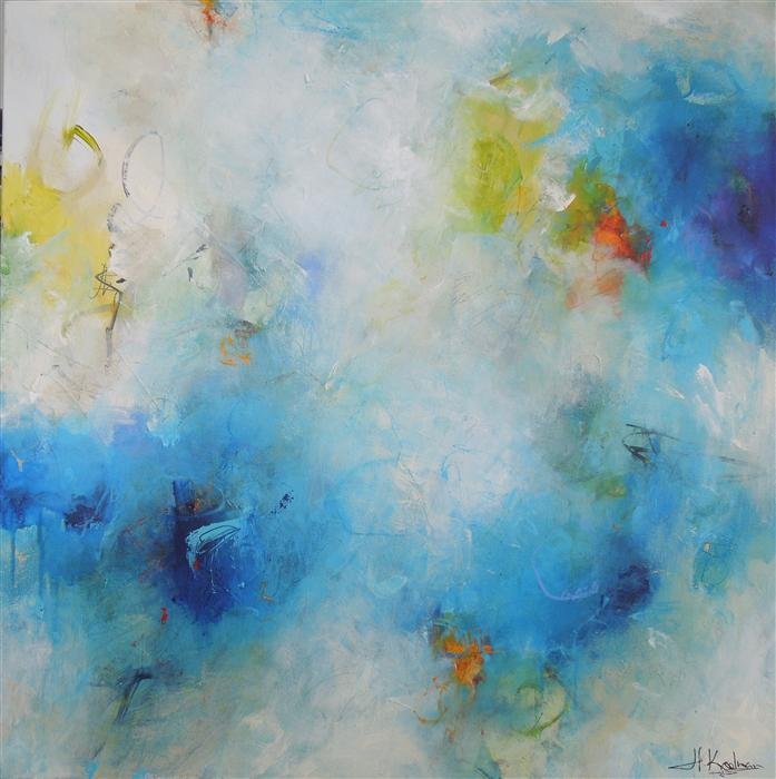 Original art for sale at UGallery.com | Monday Blues by HILMA KOELMAN | $2,600 |  | 36' h x 36' w | ..\art\acrylic-painting-Monday-Blues