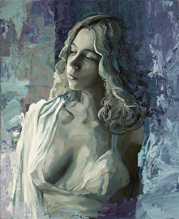 Original art for sale at UGallery.com | Portrait of Adalind by SETH COUTURE | $775 |  | 20' h x 16' w | ..\art\acrylic-painting-Portrait-of-Adalind