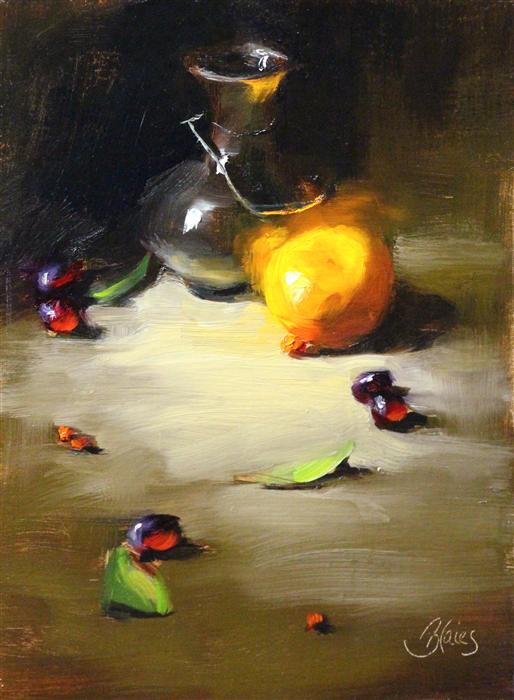 Original art for sale at UGallery.com | Still Life Study in Light by PAMELA BLAIES | $575 |  | 12' h x 9' w | ..\art\oil-painting-Still-Life-Study-in-Light