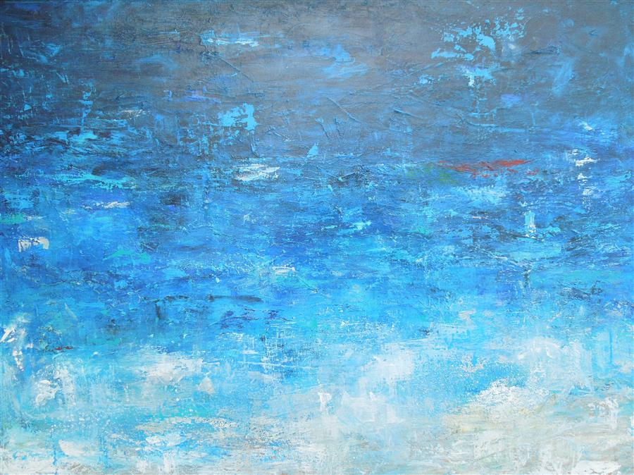 Original art for sale at UGallery.com | Blue Lagoon by HILMA KOELMAN | $1,500 |  | 30' h x 40' w | ..\art\acrylic-painting-Blue-Lagoon
