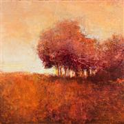 Impressionism art,Landscape art,Nature art,Representational art,acrylic painting,Soft Red