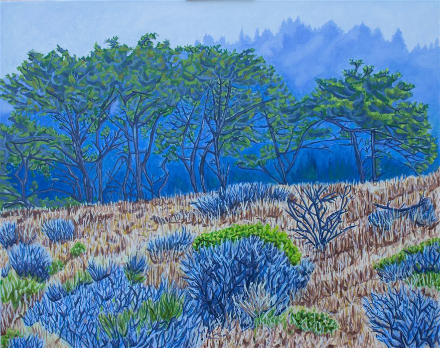 Original art for sale at UGallery.com | Blue Mist by CRYSTAL DIPIETRO | $1,300 |  | 24' h x 30' w | ..\art\oil-painting-Blue-Mist