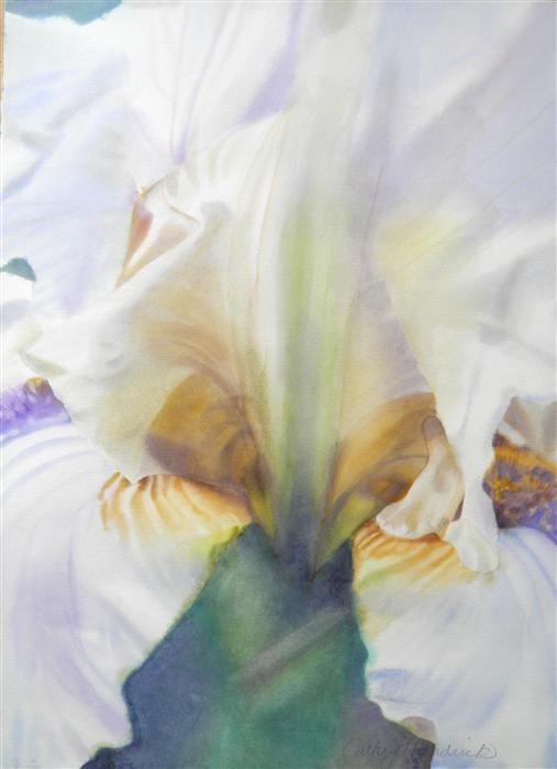 Original art for sale at UGallery.com | Light Iris by CATHE HENDRICK | $1,475 |  | 40' h x 29' w | ..\art\watercolor-painting-Light-Iris
