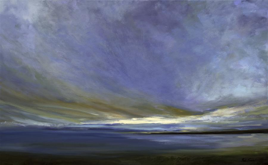 Original art for sale at UGallery.com | Coastal Clouds XXI by SHEILA FINCH | $5,250 | Oil painting | 30' h x 48' w | https://www.ugallery.com/ProductDetail.aspx?ProductID=42772