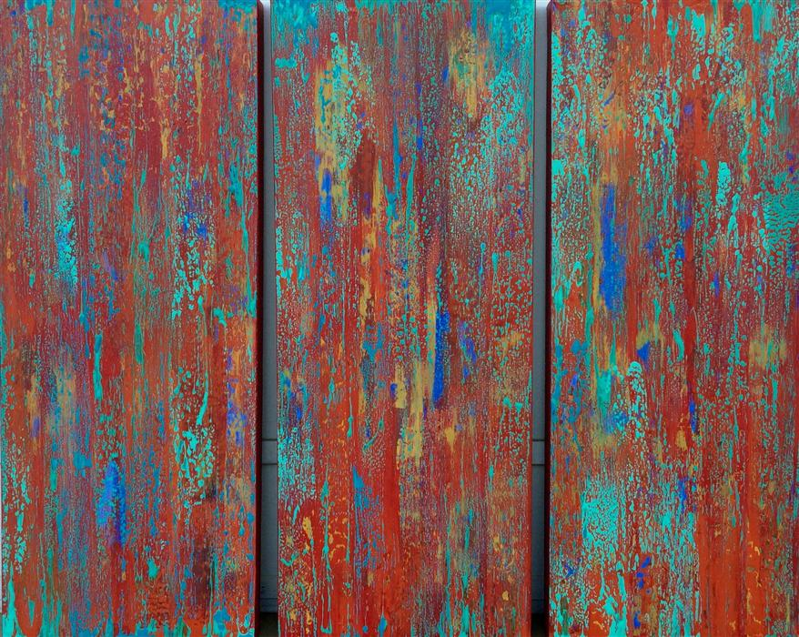 Original art for sale at UGallery.com | Tango (Triptych) by ALICIA DUNN | $1,850 |  | 30' h x 36' w | ..\art\mixed-media-artwork-Tango