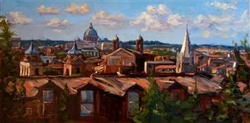 Architecture art,Impressionism art,Travel art,Classical art,Representational art,oil painting,View of Rome