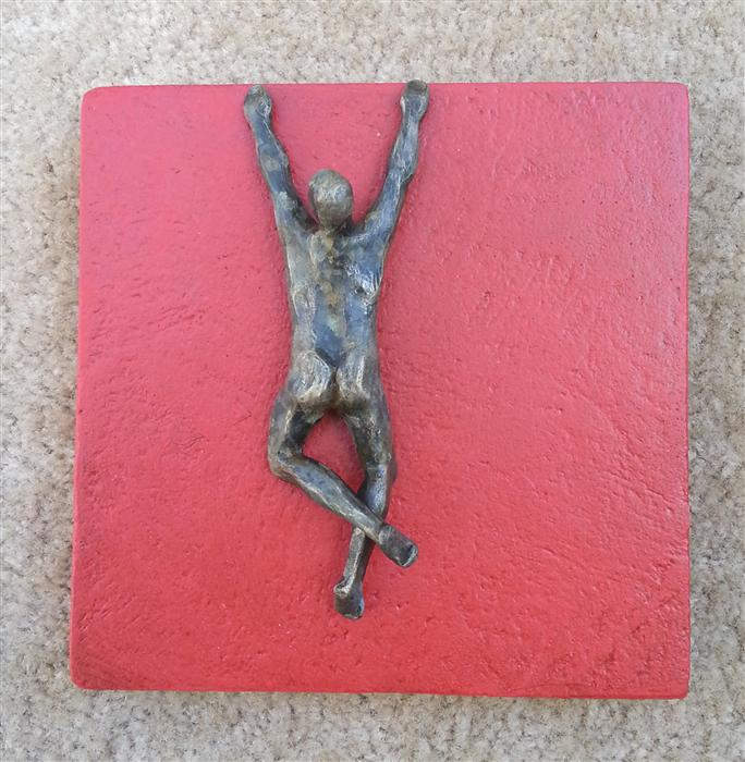 Original art for sale at UGallery.com | U-3 Red Square by YELITZA DIAZ | $475 | Sculpture | 8' h x 8' w | ..\art\sculpture-U-3-Red-Square