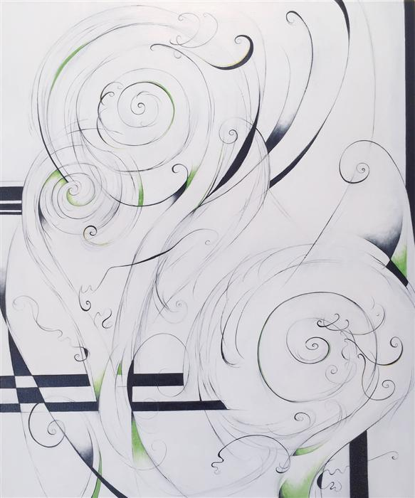 Original art for sale at UGallery.com | Fiddlehead Ferns by SUMNER CRENSHAW | $575 |  | 24' h x 20' w | ..\art\oil-painting-Fiddlehead-Ferns