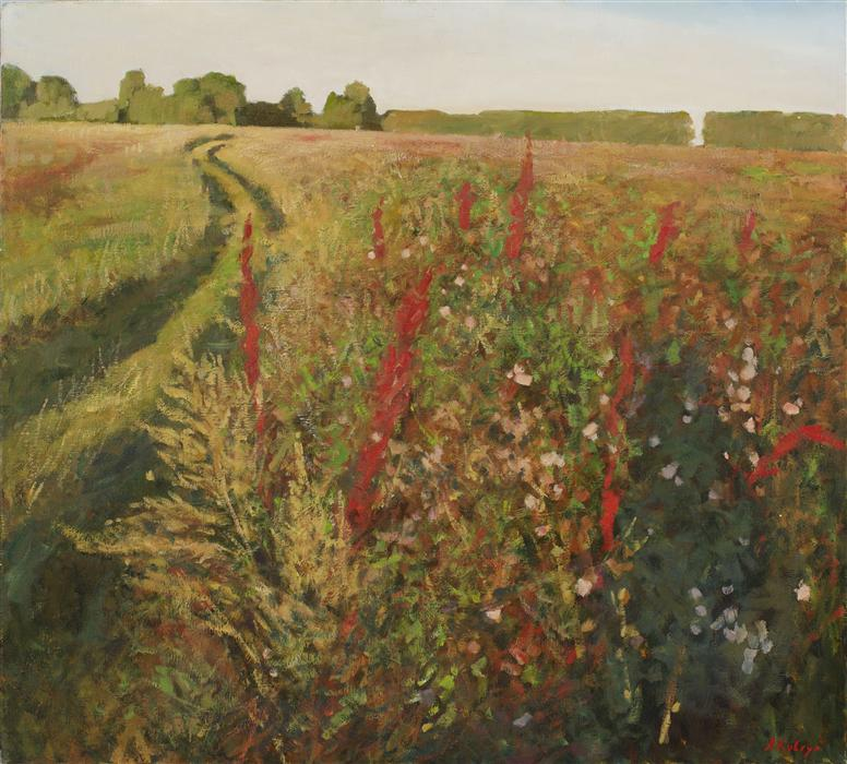 Original art for sale at UGallery.com | Field by ARSENII KOVTUN | $3,750 |  | 36' h x 40' w | ..\art\oil-painting-Field
