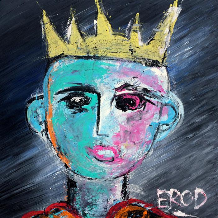 Original art for sale at UGallery.com | King for a Day by ROBERT EROD | $3,975 |  | 50' h x 50' w | ..\art\mixed-media-artwork-King-for-a-Day