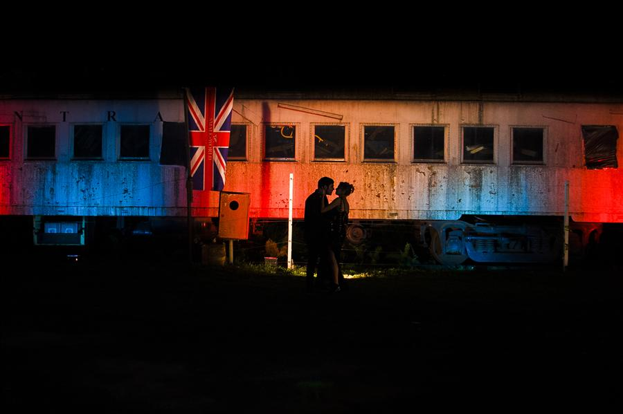 Original art for sale at UGallery.com | Love off the Train by Weslei Barba | $50 | photography | 1' h x 1' w | ..\art\photography-Love-off-the-Train