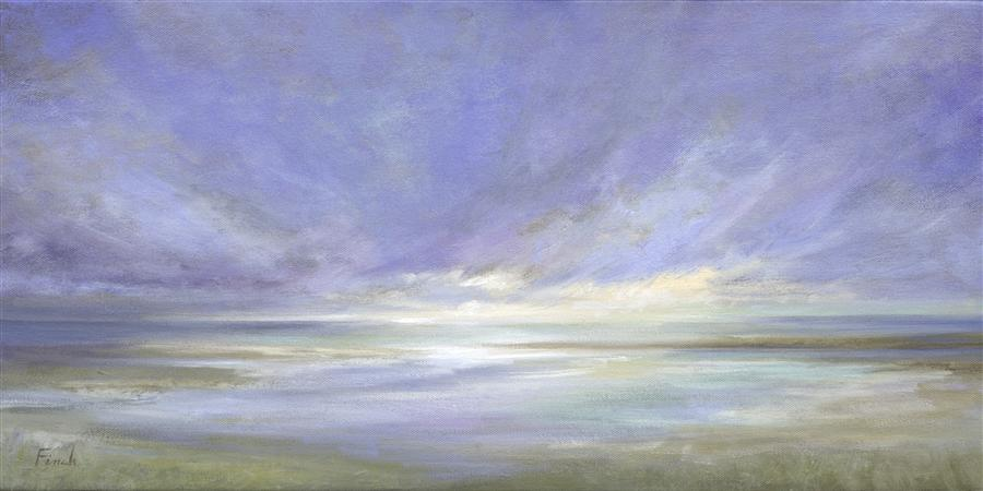 Original art for sale at UGallery.com | Coastal Light II by SHEILA FINCH | $1,700 |  | 12' h x 24' w | ..\art\oil-painting-Coastal-Light-II