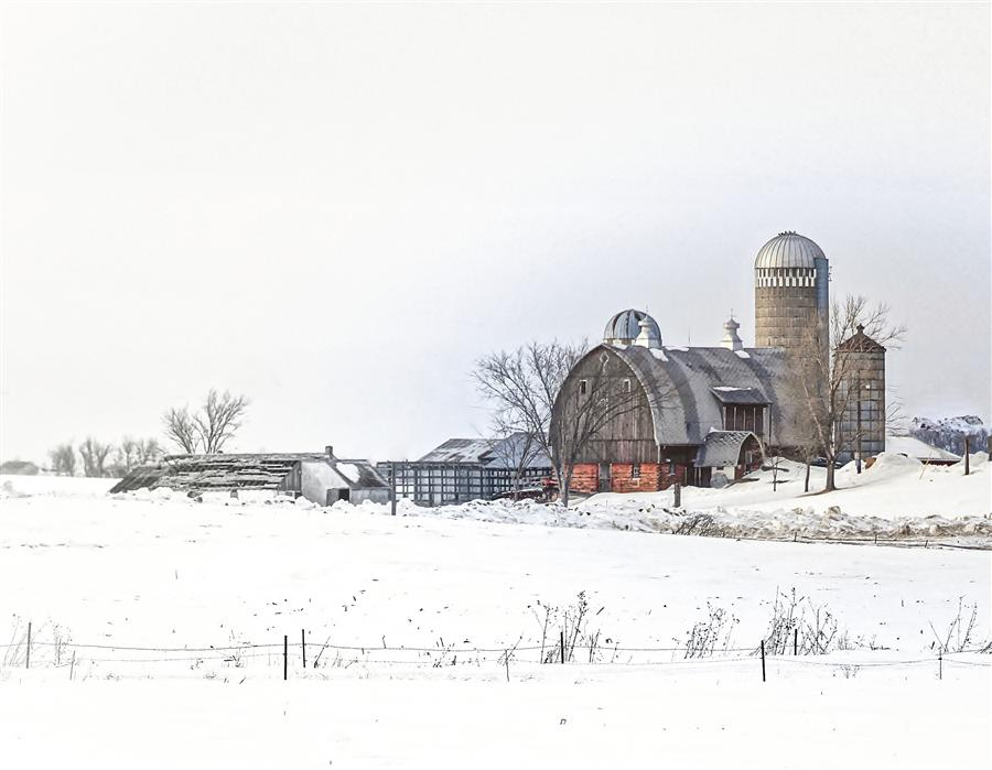 Original art for sale at UGallery.com | Pretty Country Farm by Lorianne Ende | $225 | photography | 30' h x 20' w | ..\art\photography-Pretty-Country-Farm