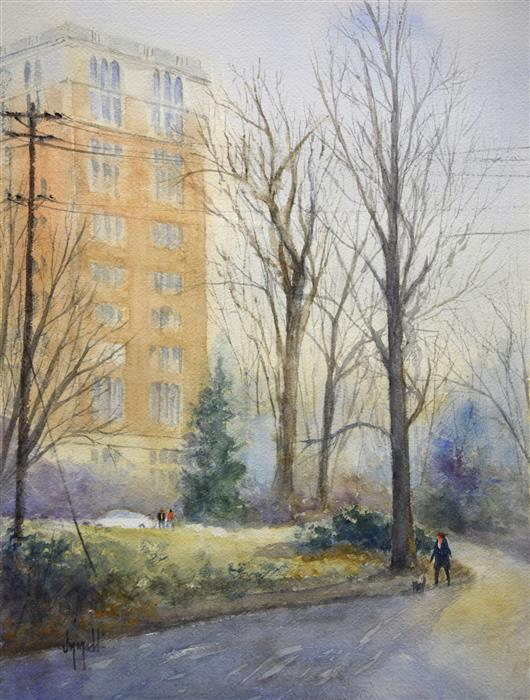 Original art for sale at UGallery.com | Willows Walk by JUDY MUDD | $650 | Watercolor painting | 16' h x 12' w | ..\art\watercolor-painting-Willows-Walk