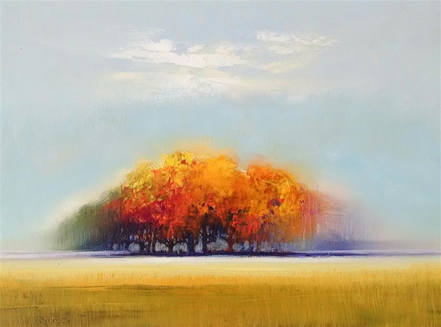 Original art for sale at UGallery.com | Peaking of Autumn by GEORGE PEEBLES | $600 | Oil painting | 18' h x 24' w | ..\art\oil-painting-Peaking-of-Autumn