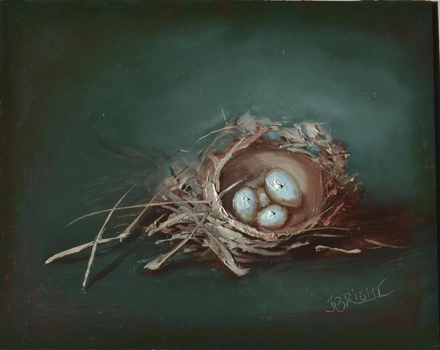 Original art for sale at UGallery.com | The Nest by JULIA BRIGHT | $825 | Oil painting | 8' h x 10' w | ..\art\oil-painting-The-Nest