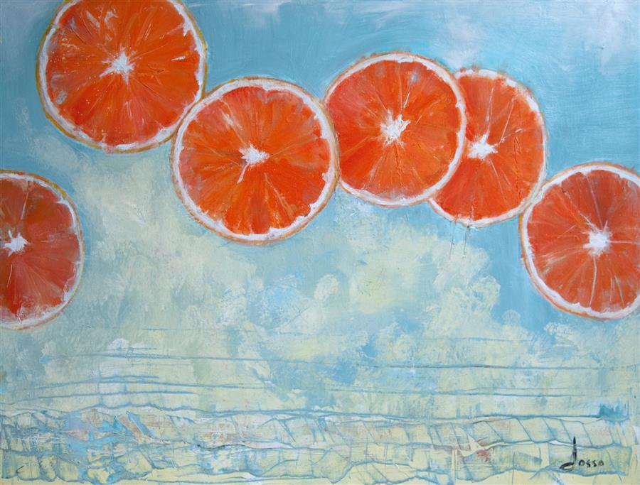 Original art for sale at UGallery.com | Valencias for Valentines by ANNE DOSSO-POWELL | $2,425 | Oil painting | 30' h x 40' w | ..\art\oil-painting-Valencias-for-Valentines