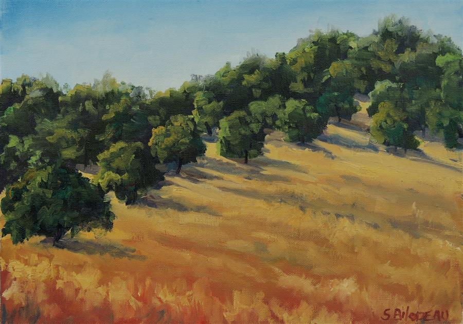 Original art for sale at UGallery.com | Along the Ridge by STEVEN GUY BILODEAU | $575 | Oil painting | 12' h x 16' w | ..\art\oil-painting-Along-the-Ridge