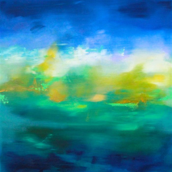 Original art for sale at UGallery.com | Fulfilled Longing by Sarah Parsons | $1,800 | oil painting | 36' h x 36' w | ..\art\oil-painting-Fulfilled-Longing