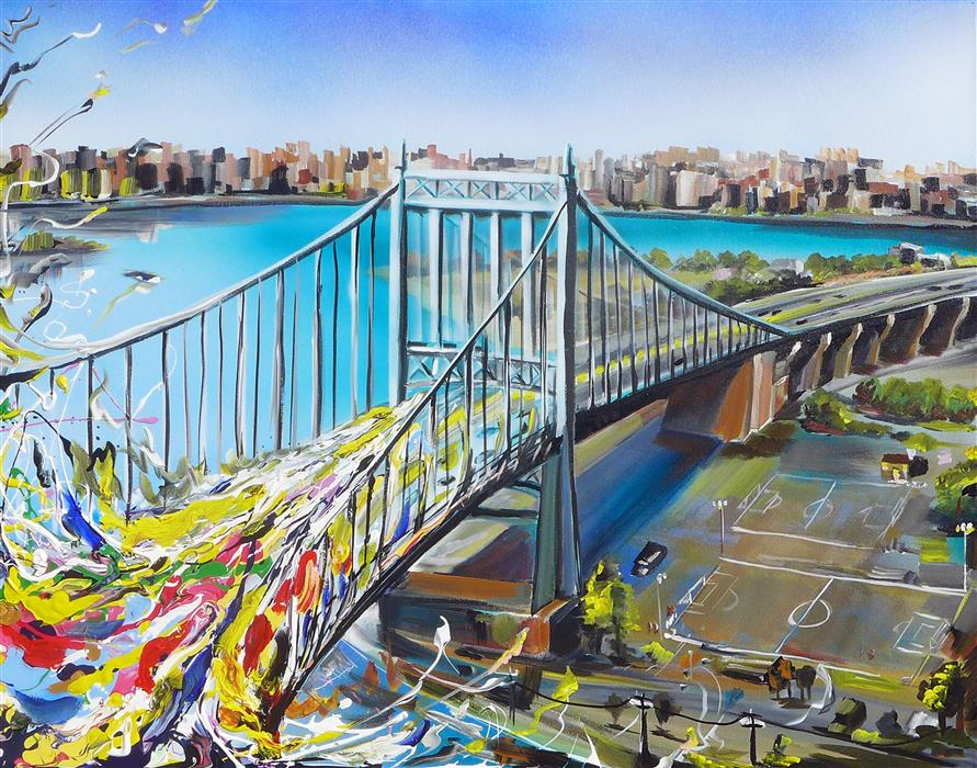 Original art for sale at UGallery.com | Triboro Queens by PIERO MANRIQUE | $1,075 |  | 24' h x 30' w | ..\art\acrylic-painting-Triboro-Queens