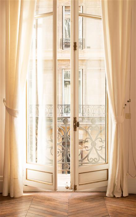 Original art for sale at UGallery.com | Paris Apartment Afternoon Light by Rebecca Plotnick | $50 | photography | 15' h x 10' w | ..\art\photography-Paris-Apartment-Afternoon-Light