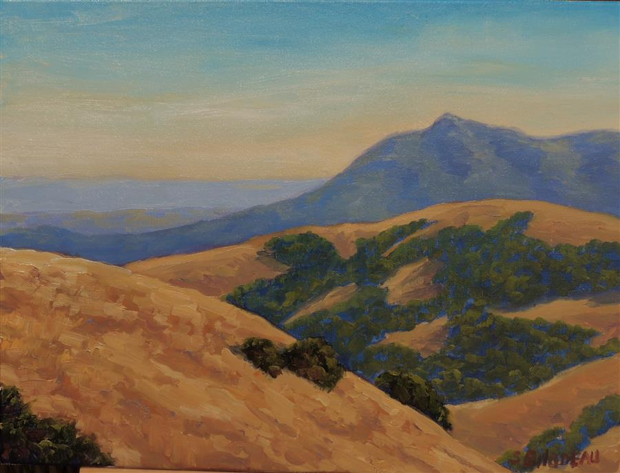 Original art for sale at UGallery.com | A View of Tamalpais by STEVEN GUY BILODEAU | $575 |  | 12' h x 16' w | ..\art\oil-painting-A-View-of-Tamalpais