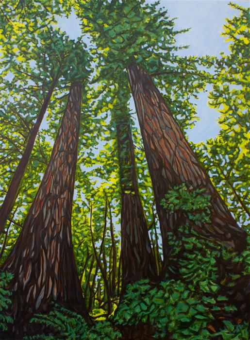 Original art for sale at UGallery.com | Mighty Giants by Crystal DiPietro | $4,400 | oil painting | 48' h x 36' w | ..\art\oil-painting-Mighty-Giants