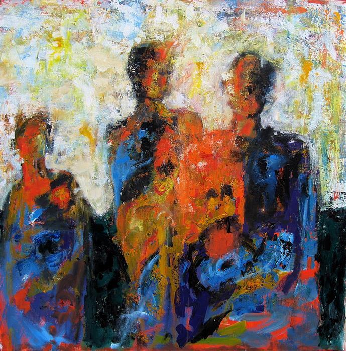 Original art for sale at UGallery.com | The Last Spectators by RON KLOTCHMAN | $2,250 | Acrylic painting | 36' h x 36' w | ..\art\acrylic-painting-The-Last-Spectators