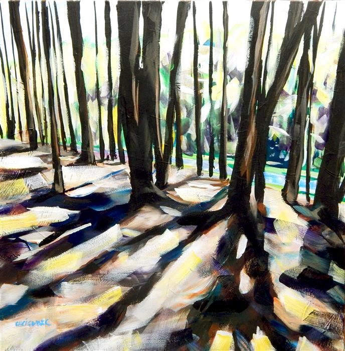 Original art for sale at UGallery.com | Pine Shadows by CHRIS WAGNER | $775 |  | 20' h x 20' w | ..\art\acrylic-painting-Pine-Shadows