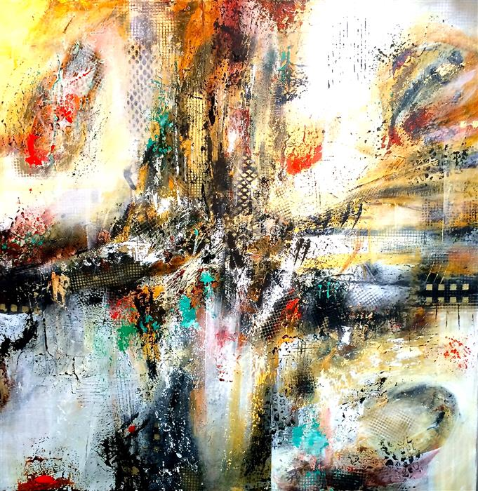 Original art for sale at UGallery.com | Counterpoint by DL WATSON | $2,925 | Acrylic painting | 36' h x 36' w | ..\art\acrylic-painting-Counterpoint