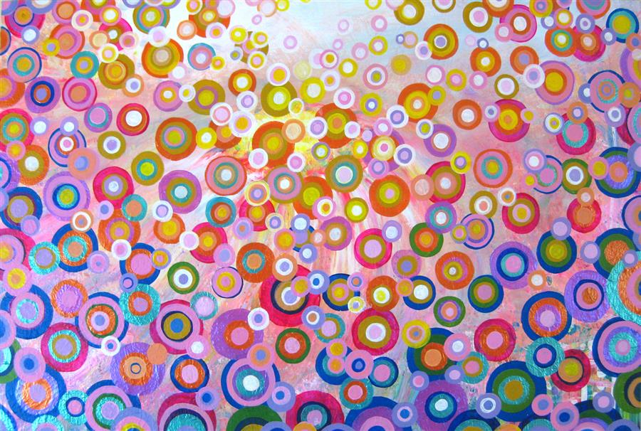 Original art for sale at UGallery.com | Sweet Day by NATASHA TAYLES | $1,000 |  | 24' h x 36' w | ..\art\acrylic-painting-Sweet-Day