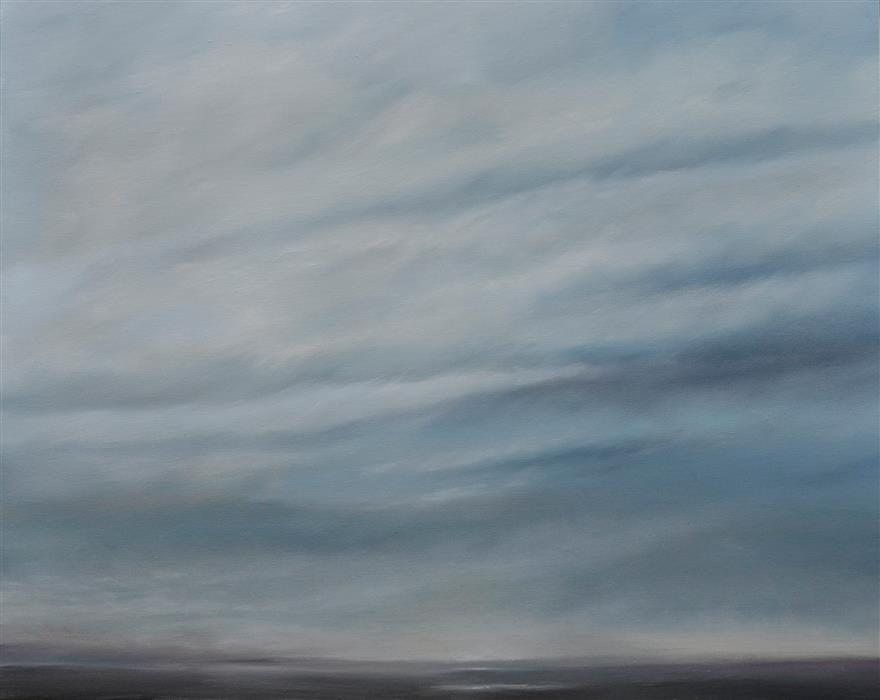 Original art for sale at UGallery.com | Gray Lady by KELLY MONEY | $875 |  | 24' h x 30' w | ..\art\oil-painting-Gray-Lady