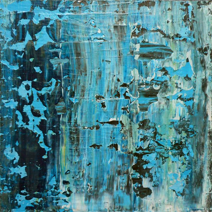 Original art for sale at UGallery.com | Abrasion Bleue by LISA CARNEY | $300 |  | 12' h x 12' w | ..\art\acrylic-painting-Abrasion-Bleue