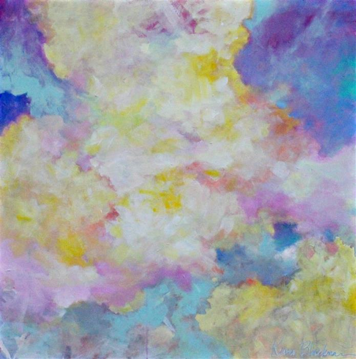 Original art for sale at UGallery.com | Spring Clouds by KERRI  BLACKMAN | $1,250 | Acrylic painting | 36' h x 36' w | ..\art\acrylic-painting-Spring-Clouds