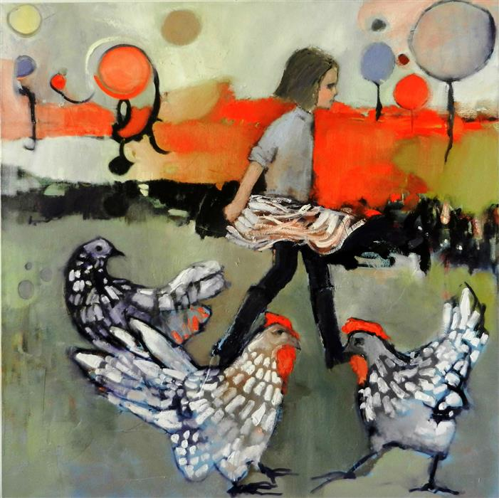 Original art for sale at UGallery.com | Rouge by MARY PRATT | $3,475 |  | 48' h x 48' w | ..\art\oil-painting-Rouge-42947