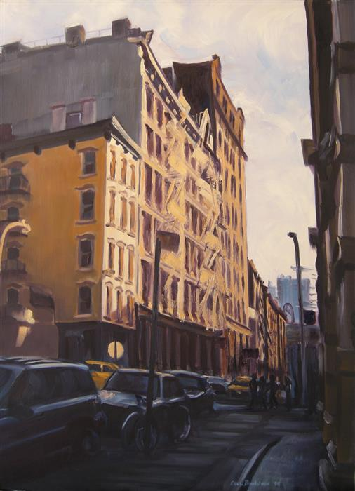 Original art for sale at UGallery.com | Soho Afternoon by ELLEN BRADSHAW | $3,475 |  | 30' h x 22' w | ..\art\oil-painting-Soho-Afternoon