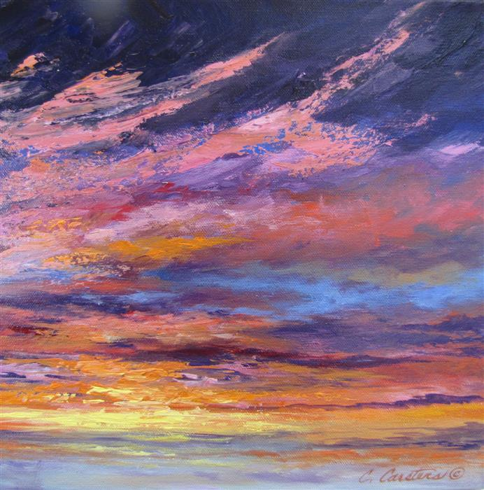Original art for sale at UGallery.com | Royal Memories by CYNDY CARSTENS | $475 |  | 12' h x 12' w | ..\art\oil-painting-Royal-Memories